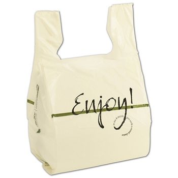 Enjoy Print T-Shirt Bags, 12 x 9 x 23