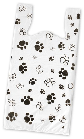Paws High Density T-Shirt Bags, 11 1/2 x 7 x 23