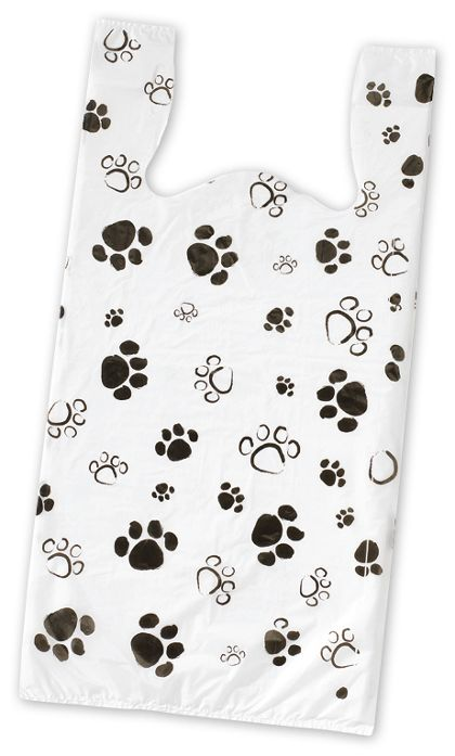 Paws High Density T-Shirt Bags, 11 1/2 x 7 x 23""