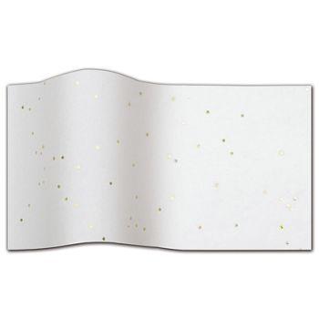 """Gold Gemstone On White Tissue Paper, 20 x 30"""""""