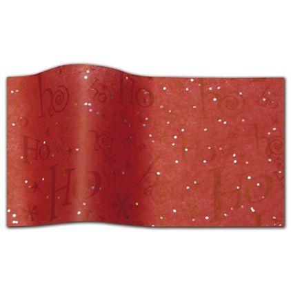 "Ho Ho Ho Gemstone Tissue Paper, 20 x 30"""