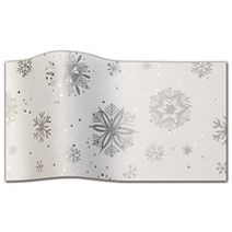 """Diamond Snowflakes Gemstone Tissue Paper, 20 x 30"""""""
