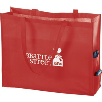 Red Non-Woven Tote Bags, 20 x 6 x 16