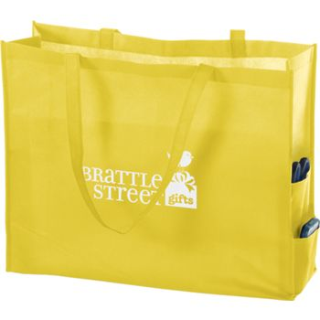 Yellow Non-Woven Tote Bags, 20 x 6 x 16