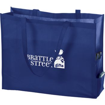 Royal Blue Non-Woven Tote Bags, 20 x 6 x 16