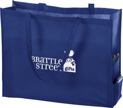 "Royal Blue Non-Woven Tote Bags, 20 x 6 x 16"""