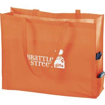 Orange Non-Woven Tote Bags, 20 x 6 x 16