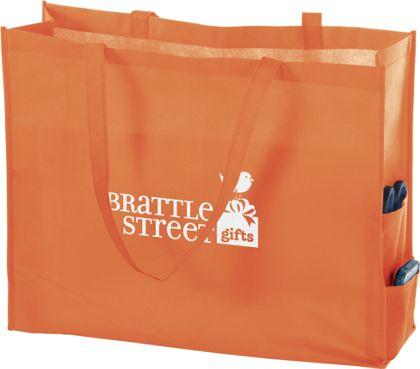 """Orange Non-Woven Tote Bags, 20 x 6 x 16"""""""