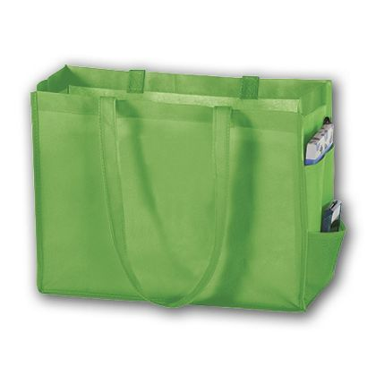Lime Unprinted Non-Woven Tote Bags, 16 x 6 x 12""