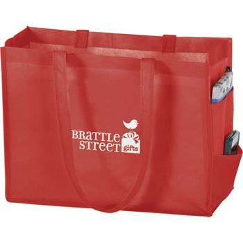 Red Non-Woven Tote Bags, 16 x 6 x 12