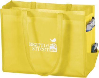 "Yellow Non-Woven Tote Bags, 16 x 6 x 12"""