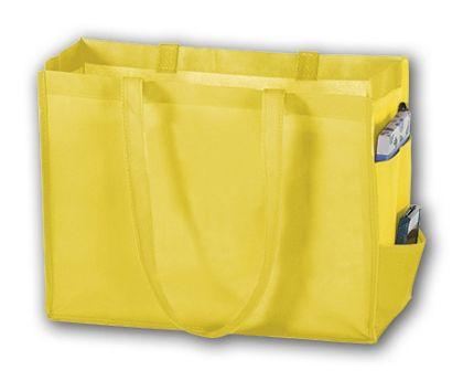 "Yellow Unprinted Non-Woven Tote Bags, 16 x 6 x 12"""