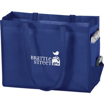 Royal Blue Non-Woven Tote Bags, 16 x 6 x 12