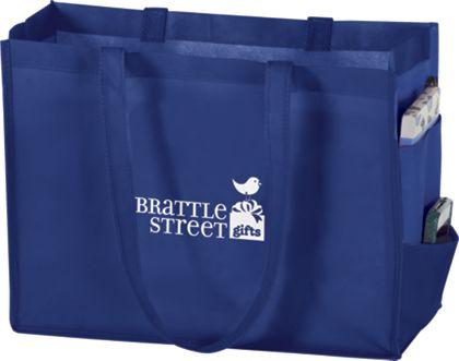 "Royal Blue Non-Woven Tote Bags, 16 x 6 x 12"""