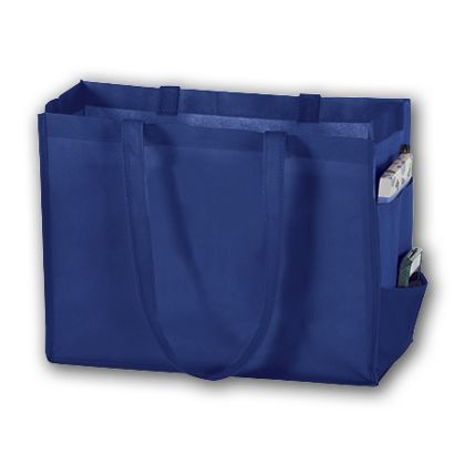 Royal Blue Unprinted Non-Woven Tote Bags, 16 x 6 x 12""