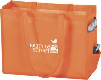 Orange Non-Woven Tote Bags, 16 x 6 x 12