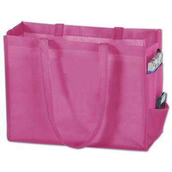 Pink Non-Woven Tote Bags, 16 x 6 x 12