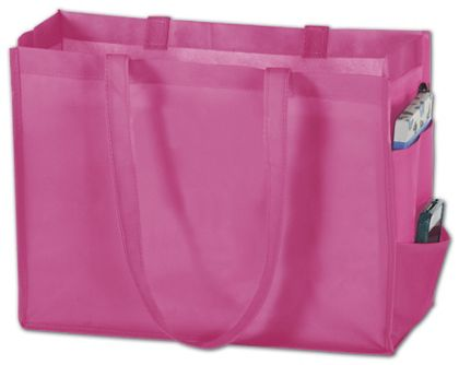 """Pink Non-Woven Tote Bags, 16 x 6 x 12"""""""