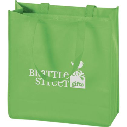 Lime Non-Woven Tote Bags, 13 x 5 x 13