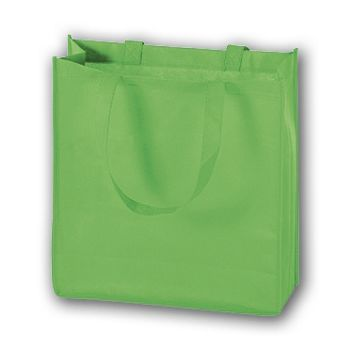 Lime Unprinted Non-Woven Tote Bags, 13 x 5 x 13""