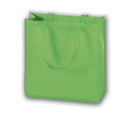 """Lime Unprinted Non-Woven Tote Bags, 13 x 5 x 13"""""""
