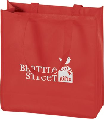 Red Non-Woven Tote Bags, 13 x 5 x 13