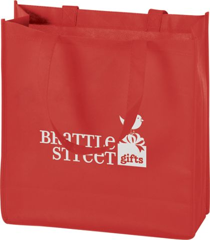 """Red Non-Woven Tote Bags, 13 x 5 x 13"""""""