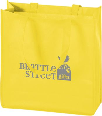 Yellow Non-Woven Tote Bags, 13 x 5 x 13