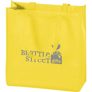 Yellow Non-Woven Tote Bags, 13 x 5 x 13""