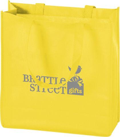 "Yellow Non-Woven Tote Bags, 13 x 5 x 13"""