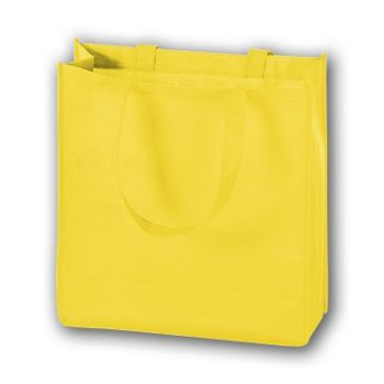 Yellow Unprinted Non-Woven Tote Bags, 13 x 5 x 13