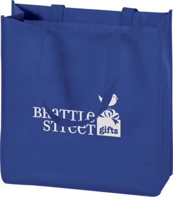 Royal Blue Non-Woven Tote Bags, 13 x 5 x 13