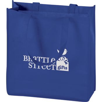 Royal Blue Non-Woven Tote Bags, 13 x 5 x 13