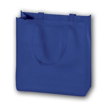 Royal Blue Unprinted Non-Woven Tote Bags, 13 x 5 x 13