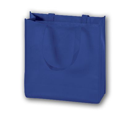 Royal Blue Unprinted Non-Woven Tote Bags, 13 x 5 x 13""