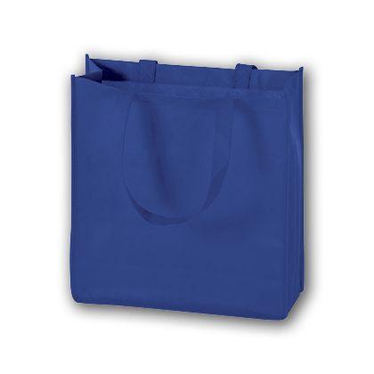 Royal Blue Unprinted Non-Woven Tote Bags, 13 x 5 x 13
