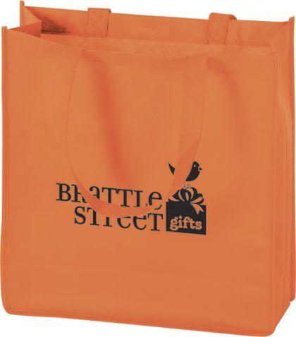 """Orange Non-Woven Tote Bags, 13 x 5 x 13"""""""