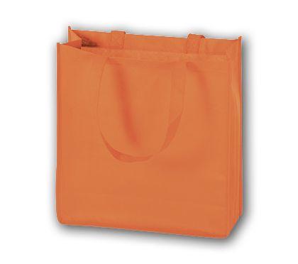 """Orange Unprinted Non-Woven Tote Bags, 13 x 5 x 13"""""""