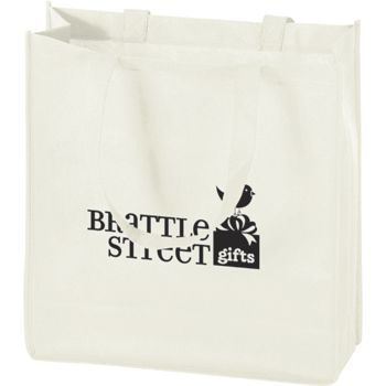 White Non-Woven Tote Bags, 13 x 5 x 13