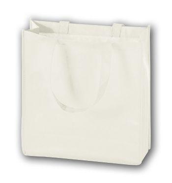 White Unprinted Non-Woven Tote Bags, 13 x 5 x 13