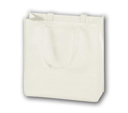 """White Unprinted Non-Woven Tote Bags, 13 x 5 x 13"""""""