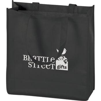 """Black Non-Woven Tote Bags, 13 x 5 x 13"""""""