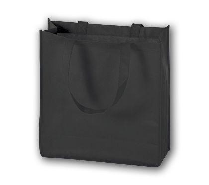 """Black Unprinted Non-Woven Tote Bags, 13 x 5 x 13"""""""
