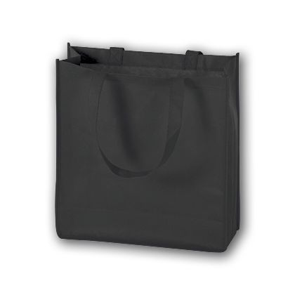 Black Unprinted Non-Woven Tote Bags, 13 x 5 x 13
