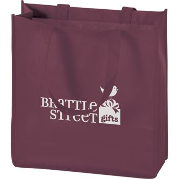 Burgundy Non-Woven Tote Bags, 13 x 5 x 13
