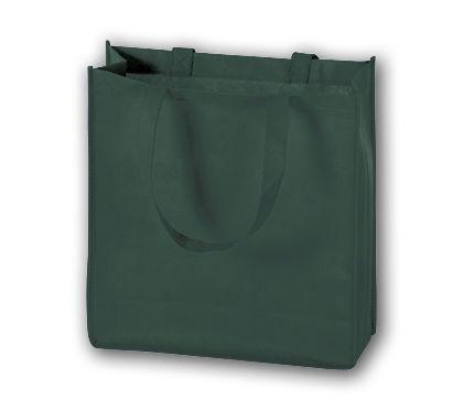 """Hunter Green Unprinted Non-Woven Tote Bags, 13 x 5 x 13"""""""
