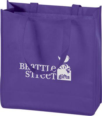 Purple Non-Woven Tote Bags, 13 x 5 x 13