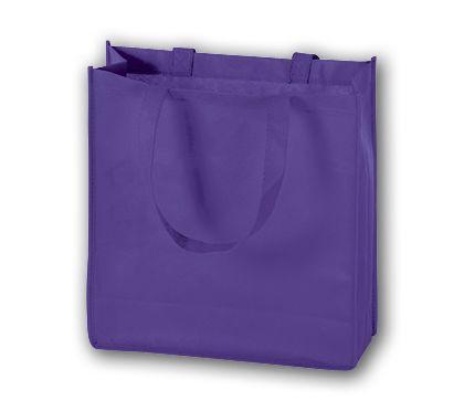 """Purple Unprinted Non-Woven Tote Bags, 13 x 5 x 13"""""""