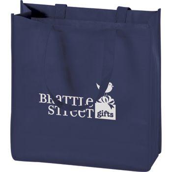 Navy Non-Woven Tote Bags, 13 x 5 x 13