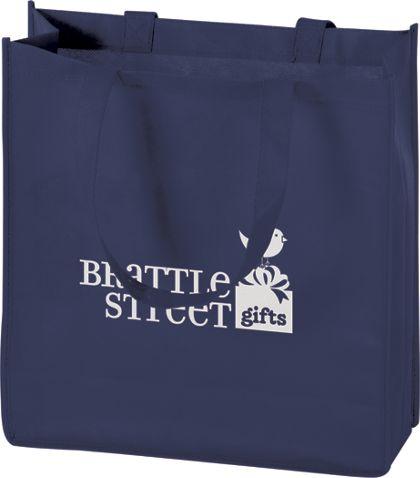"""Navy Non-Woven Tote Bags, 13 x 5 x 13"""""""